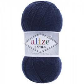 Пряжа Alize Extra - 58 темно-синий, Цвет: 58 темно-синий