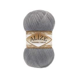 Пряжа Alize Angora Gold - 87 средне-серый, Цвет: 87 средне-серый