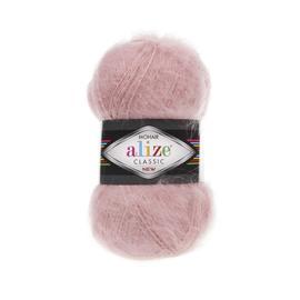 Пряжа Alize Mohair Classic New - 161 пудра, Цвет: 161 Пудра