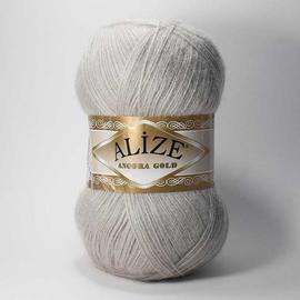 Пряжа Alize Angora Gold - 652 пепельный, Цвет: 652 пепельный