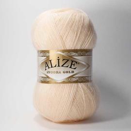 Пряжа Alize Angora Gold - 681 бледный персик, Цвет: 681 бледный персик