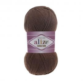 Пряжа Alize Cotton Gold - 493 коричневый, Цвет: 493 коричневый