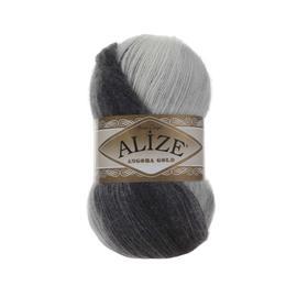 Пряжа Alize Angora Gold Batik - 1900 темно-серый/серо-голуб/бел, Цвет: 1900 темно-серый/серо-голуб/бел