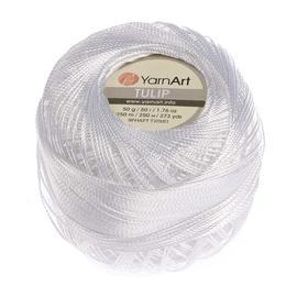 Пряжа Yarnart Tulip - 401 белый, Цвет: 401 белый