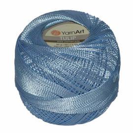 Пряжа Yarnart Tulip - 408 голубой, Цвет: 408 голубой