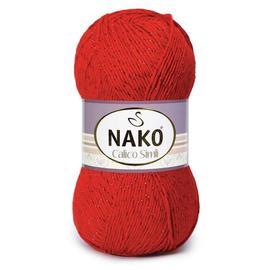 Пряжа Nako Calico Simli - 2209 красный, Цвет: 2209 красный