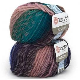 Пряжа Yarnart Harmony - А10 бирюзовый принт, Цвет: А10 бирюзовый принт