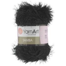 Пряжа Yarnart Samba - 02 черный, Цвет: 02 черный
