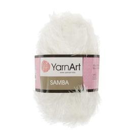 Пряжа Yarnart Samba - 01 белый, Цвет: 01 белый