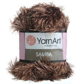 Пряжа Yarnart Samba - 199 коричневый, Цвет: 199 коричневый