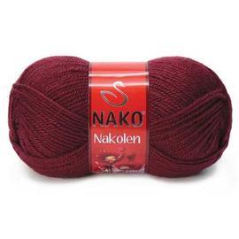 Пряжа Nako Nakolen - 999 бордовый, Цвет: 999 бордовый