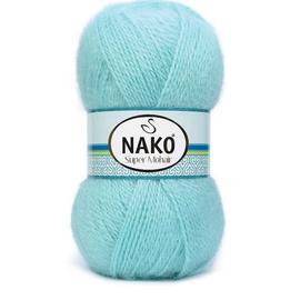 Пряжа Nako Super Mohair - 13 мята, Цвет: 13 мята