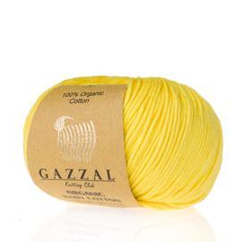 Пряжа Gazzal Organic Baby Cotton - 420 желтый, Цвет: 420 желтый