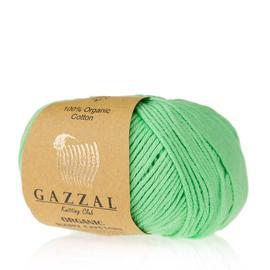 Пряжа Gazzal Organic Baby Cotton - 421 салатовый, Цвет: 421 салатовый