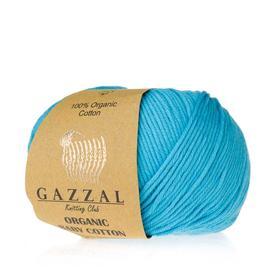 Пряжа Gazzal Organic Baby Cotton - 424 бирюза, Цвет: 424 бирюза