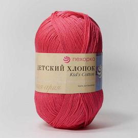 Пряжа Пехорка Детский Хлопок - 439 малиновый, Цвет: 439 малиновый