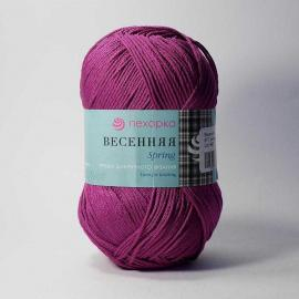 Пряжа Пехорка Весенняя - 87 темно-лиловый, Цвет: 87 темно-лиловый