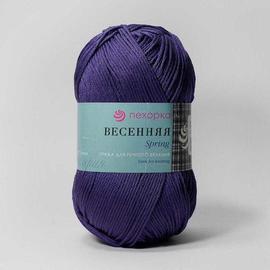Пряжа Пехорка Весенняя - 78 фиолетовый, Цвет: 78 фиолетовый