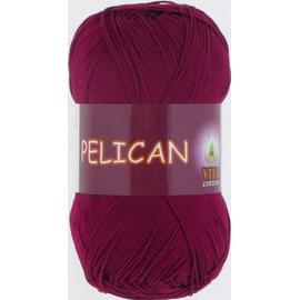 Пряжа Vita Cotton Pelican - 3955 винный, Цвет: 3955 винный