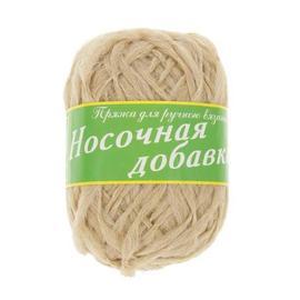 Пряжа Носочная Добавка - 04 бежевый, Цвет: 04 бежевый