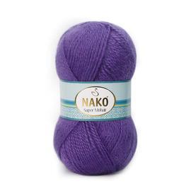 Пряжа Nako Super Mohair - 1850 фиолетовый, Цвет: 1850 фиолетовый