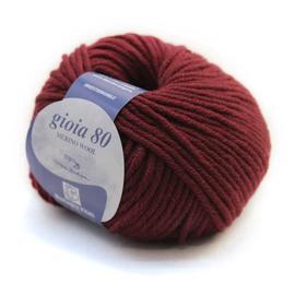 Пряжа Bertagna Filati Gioia 80 - 2306 вишневый, Цвет: 2306 вишневый