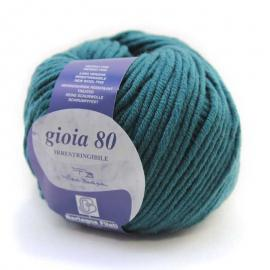 Пряжа Bertagna Filati Gioia 80 - 4005 морская волна, Цвет: 4005 морская волна