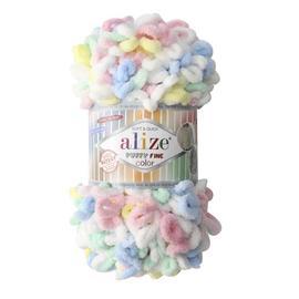 Пряжа Alize Puffy Fine Color - 5949 детский, Цвет: 5949 детский
