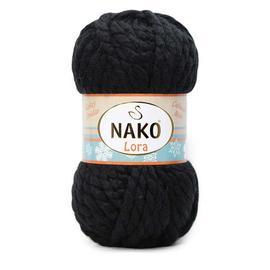 Пряжа Nako Lora - 217 черный, Цвет: 217 черный