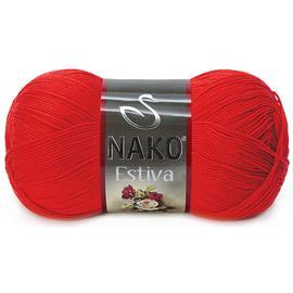 Пряжа Nako Estiva - 6951 красный, Цвет: 6951 красный