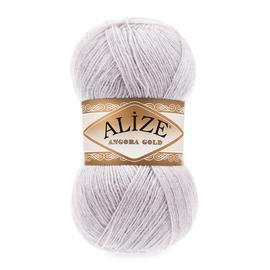 Пряжа Alize Angora Gold - 71 серо-сиреневый, Цвет: 71 серо-сиреневый