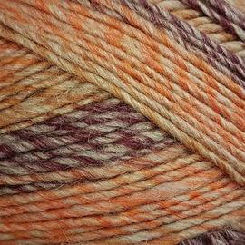 Пряжа Пехорка Ровница Мультиколоровая - 1147 М оранж/бордо меланж, Цвет: 1147 М оранж/бордо меланж