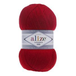 Пряжа Alize Lanagold 800 - 390 тем.красный, Цвет: 390 тем.красный
