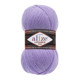 Пряжа Alize Lanagold Fine - 166 сиреневый, Цвет: 166 сиреневый