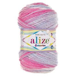 Пряжа Alize Sekerim Batik - 7253 розов/бел/св.серый, Цвет: 7253 розов/бел/св.серый