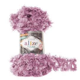 Пряжа Alize Puffy Fur - 6103 тем.розовый, Цвет: 6103 тем.розовый