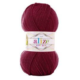 Пряжа Alize Happy Baby - 390 вишня, Цвет: 390 вишня