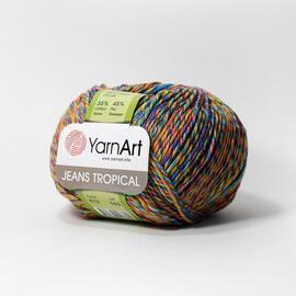 Пряжа Yarnart Jeans Tropical - 612 радуга, Цвет: 612 радуга