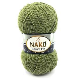 Пряжа Nako Lame Fine - 268 Y зеленый, Цвет: 268 Y зеленый