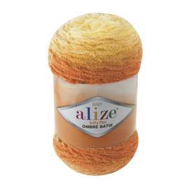Пряжа Alize Softy Plus Ombre Batik - 7285 оранжевый, Цвет: 7285 оранжевый