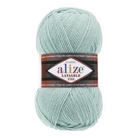 Пряжа Alize Lanagold Fine - 522 мята, Цвет: 522 мята