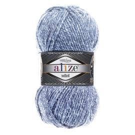 Пряжа Alize Superlana Midi - 806 джинсовый меланж, Цвет: 806 джинсовый меланж