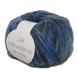 Пряжа Silke Neveline - 13 тем.синий принт, Цвет: 13 тем.синий принт