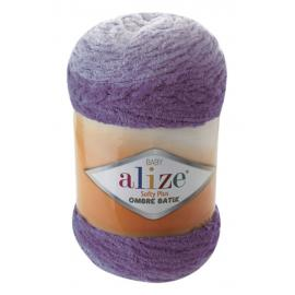 Пряжа Alize Softy Plus Ombre Batik - 7298 сиреневый, Цвет: 7298 сиреневый