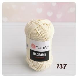 Пряжа Yarnart Macrame - 137 экрю, Цвет: 137 экрю
