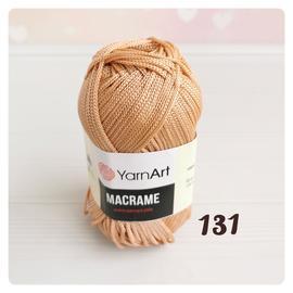 Пряжа Yarnart Macrame - 131 пудра, Цвет: 131 пудра