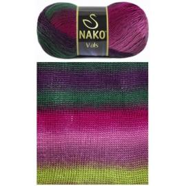 Пряжа Nako Vals - 85794 зел/фиол, Цвет: 85794 зел/фиол