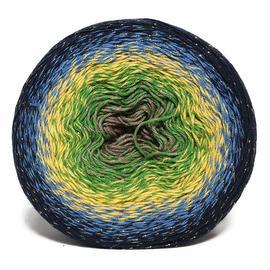 Пряжа Yarnart Flowers Moonlight - 3250 чёрный/синий/жёлтый/зелёный, Цвет: 3250 чёрный/синий/жёлтый/зелёный