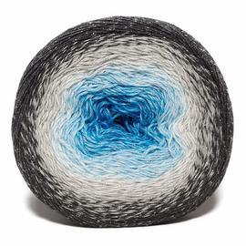 Пряжа Yarnart Flowers Moonlight - 3251 серый/белый/голубой, Цвет: 3251 серый/белый/голубой
