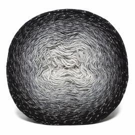 Пряжа Yarnart Flowers Moonlight - 3253 чёрный/серый, Цвет: 3253 чёрный/серый